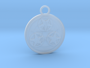 Three of Pentacles in Smooth Fine Detail Plastic