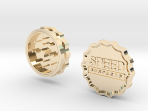 Speed Suspects Herbal Grinder in 14K Yellow Gold
