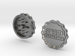 Speed Suspects Herbal Grinder in Natural Silver