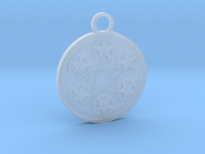 Six of Pentacles in Smooth Fine Detail Plastic