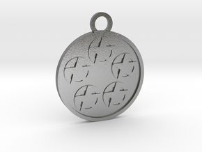 Five of Pentacles in Natural Silver