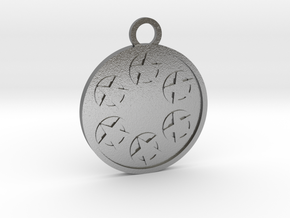 Six of Pentacles in Natural Silver