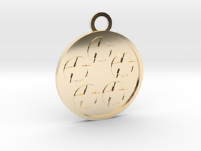 Five of Pentacles in 14k Gold Plated Brass