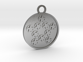 Ten of Pentacles in Natural Silver