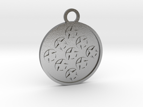 Nine of Pentacles in Natural Silver