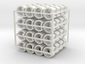 1:43 Pflanzsteine 64 Stück Spur 0 in White Natural Versatile Plastic