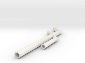 Trident Arm in White Natural Versatile Plastic