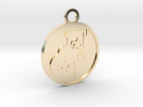 Page of Pentacles in 14k Gold Plated Brass