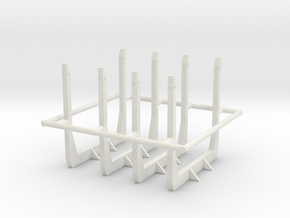 1/50th Short logger tall angle top bunks in White Natural Versatile Plastic