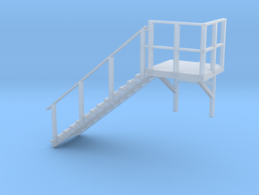 Staircase left, to N scale office container in Smoothest Fine Detail Plastic