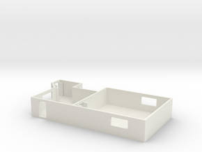 1/87 Scale MASH Main Building CO and Clerks Office in White Natural Versatile Plastic
