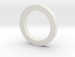28.6mmX5mm in White Natural Versatile Plastic