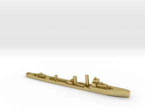 HMS Walpole destroyer-SR escort 1:2400 WW2 in Natural Brass