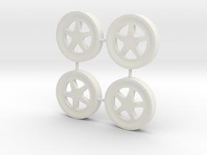 S71 Wheels #3 in White Natural Versatile Plastic