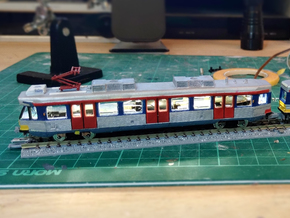 Hong Kong Light Rail  N size (first) in Smooth Fine Detail Plastic