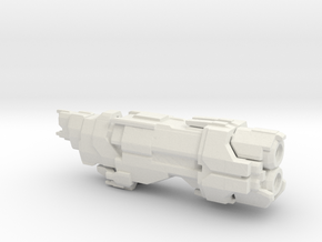 UNSC Marathon Class Cruiser 1:7000 scale in White Natural Versatile Plastic