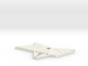 Cupra Grill Flag Badge For FLAT Cupra Logo in White Natural Versatile Plastic