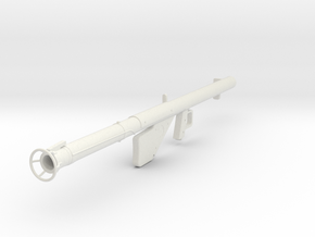 Bazooka M1A1 1/10 in White Natural Versatile Plastic