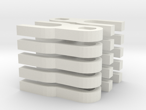 Daempfergabel 10x in White Natural Versatile Plastic