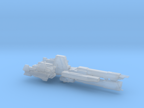 UNSC Paris class frigate high detail 1:700 scale in Smooth Fine Detail Plastic