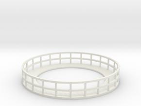 Walkway 2 - Nscale in White Natural Versatile Plastic