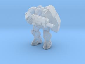 Starcraft 1/60 Terran Marine with shield & bayonet in Smooth Fine Detail Plastic