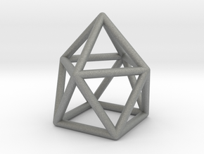 0746 J10 Gyroelongated Square Pyramid (a=1cm) #1 in Gray Professional Plastic