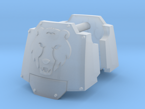 Commission 64 MkX dreadnought shoulder pads in Smooth Fine Detail Plastic