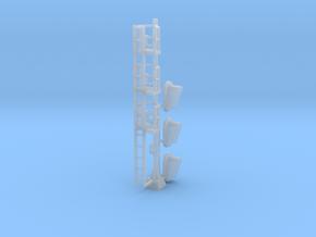 N Modern Signal Mast 3 heads in Smooth Fine Detail Plastic