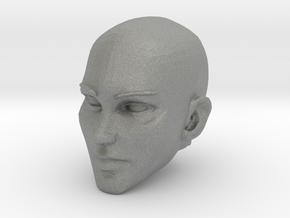 Female Head Bald 2 in Gray PA12