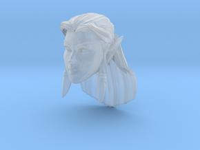 Elf Head Female 1 in Smooth Fine Detail Plastic