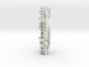 1/87 Pierce Ascendent Mid Mount Ladder in White Natural Versatile Plastic