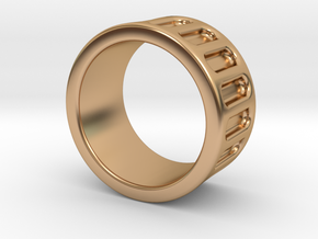 Groove Ring Band 10mm in Polished Bronze: 6 / 51.5