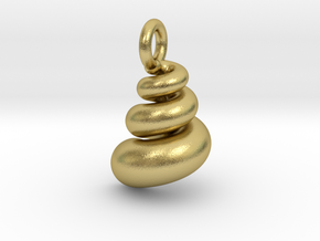 Pendant   Shell in Natural Brass