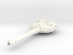 28mm T-72 style turret coax stubber in White Processed Versatile Plastic