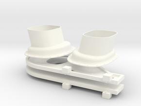 1.10 TUYERES EC725 X2 in White Processed Versatile Plastic