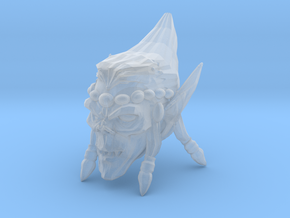 Interplanar Villian Head 2 with Open Mouth in Smooth Fine Detail Plastic
