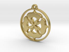 Lotus Pendant II in Natural Brass