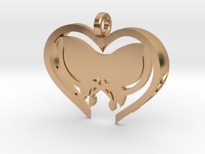 Custom Butterfly Heart in Polished Bronze
