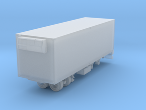 1/87 Scale Transit 22ft Reefer Trailer in Smooth Fine Detail Plastic