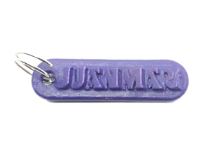 JUANMARI Personalized keychain embossed letters in White Natural Versatile Plastic