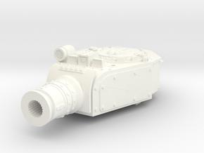 28mm Devastator tank turret (for old kit) in White Processed Versatile Plastic