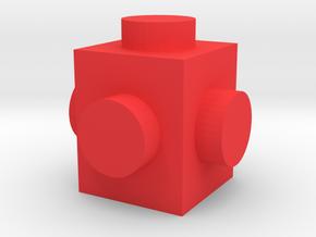 Custom LEGO brick 1x1 in Red Processed Versatile Plastic