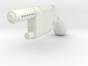 1:6 Miniature Blaster Pistol in White Natural Versatile Plastic