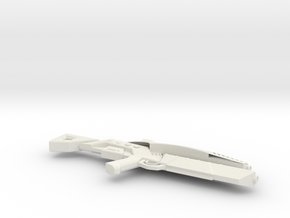1:6 Miniature M-8 Avenger Rifle - Mass Effect 3 in White Natural Versatile Plastic