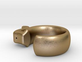 Take 5 Ring in Polished Gold Steel: Medium