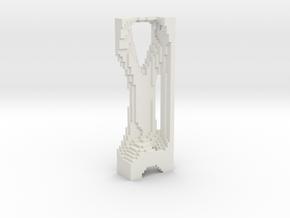 M069_Pixle Tower in White Natural Versatile Plastic