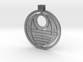 Bohrok Pendent in Natural Silver