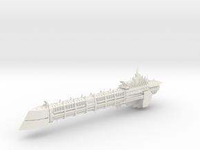 Chaos Renegade Long_ship - Concept 5 in White Natural Versatile Plastic