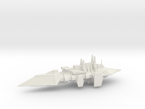 Chaos Renegade Escort Ship - 5 in White Natural Versatile Plastic